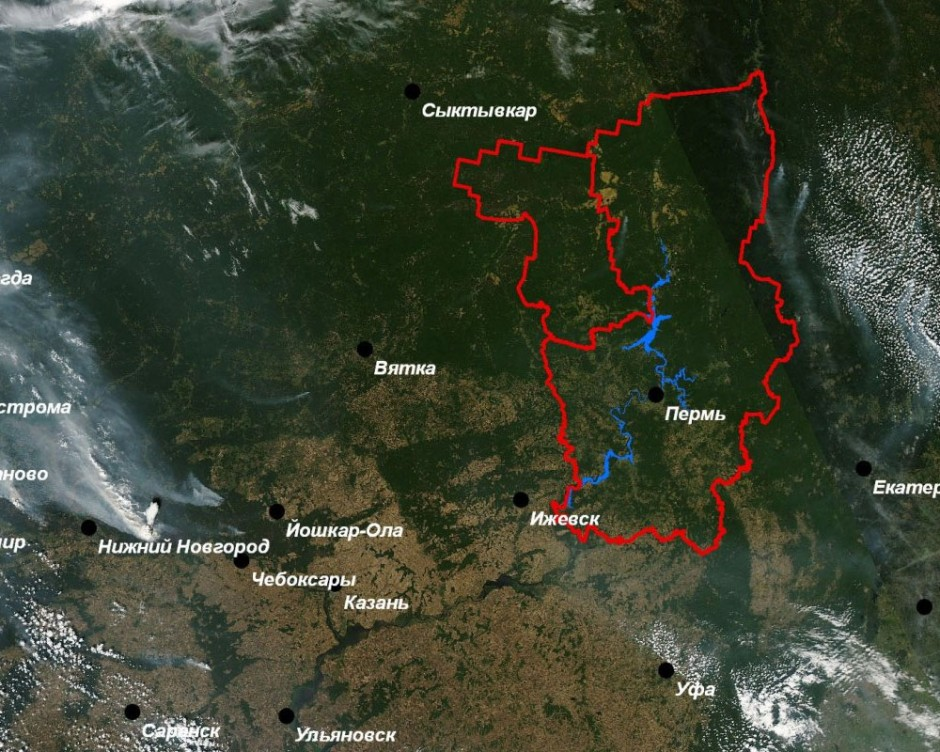 Космический мониторинг Пермского региона