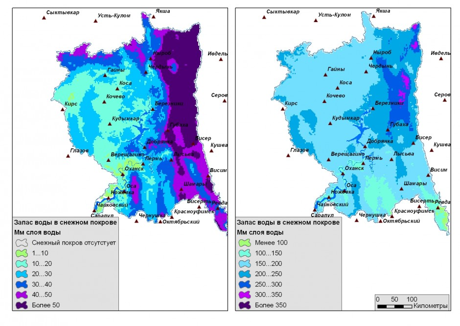 Прогнозирование интенсивности процессов снеготаяния методами геостатистического анализа (на примере бассейна Воткинского вдхр.)