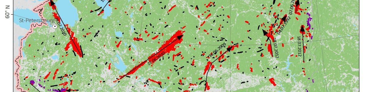 Опубликована статья о ветровалах в Европейской части России